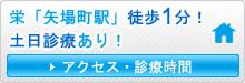 アクセス・診療時間 栄「矢場町駅」徒歩1分! 土日診療あり!